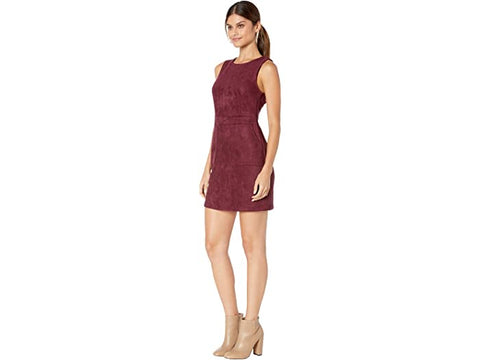 AGEMMA FAUX SUEDE DRESS