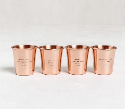ADVENTURE COPPER SHOT GLASS SET/4
