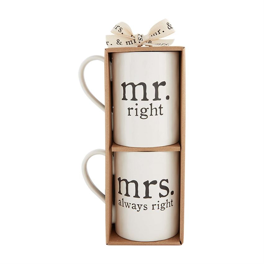 MR & MRS RIGHT MUGS - SET