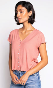 MAEVE TOP DUSTY PINK