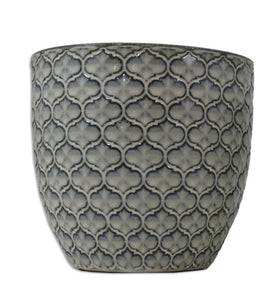 CERAMIC NESTING PLANTER MED