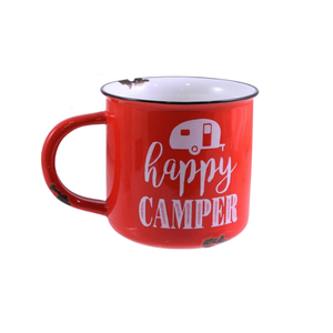 14 OZ CERAMIC HAPPY CAMPER