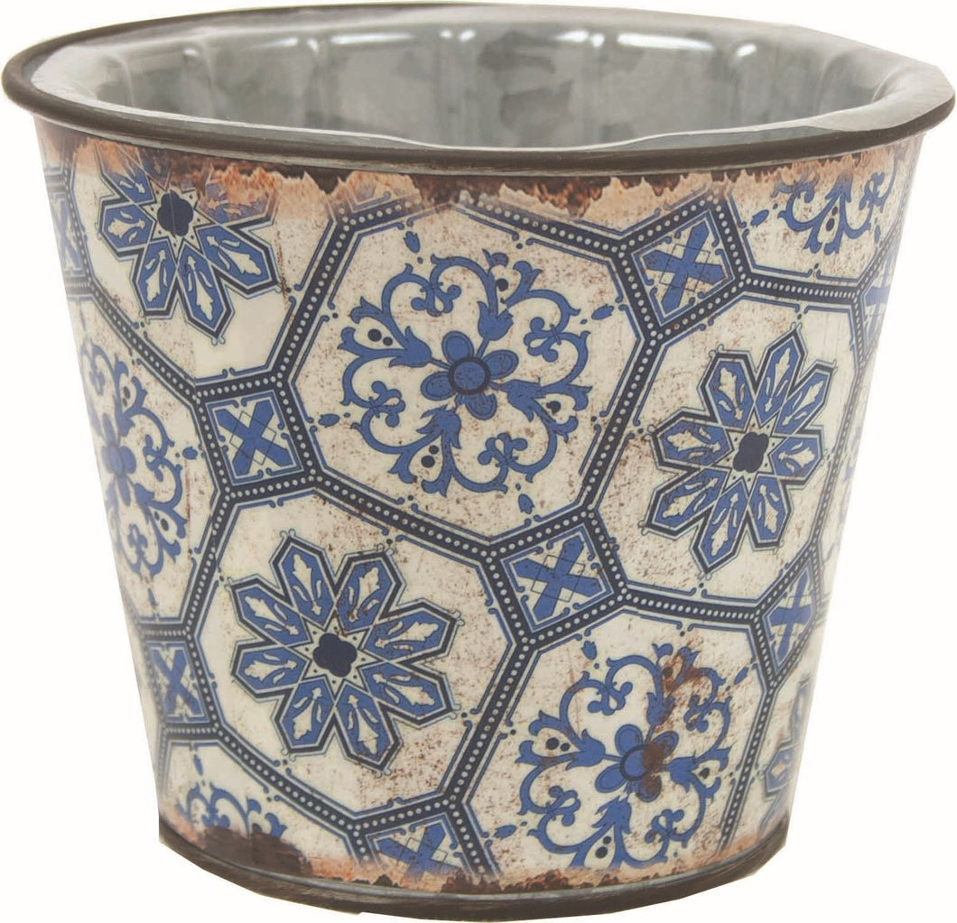 LIBSON BLUE METAL POT W/LINER
