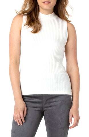 MOCK NECK KNIT SLEEVELESS TEE