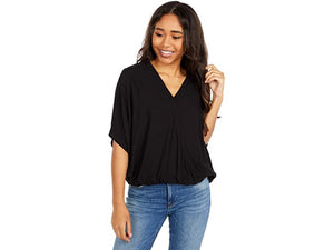 SURPLICE NECK TOP