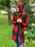 BUFFALO CHECK HOODED SWEATER