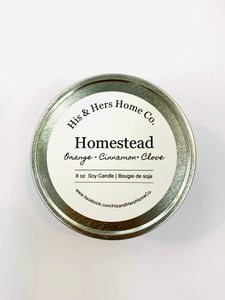 HOMESTEAD 8 OZ SOY CANDLE
