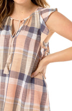 Load image into Gallery viewer, TIE BLOUSE SEDONA PLAID