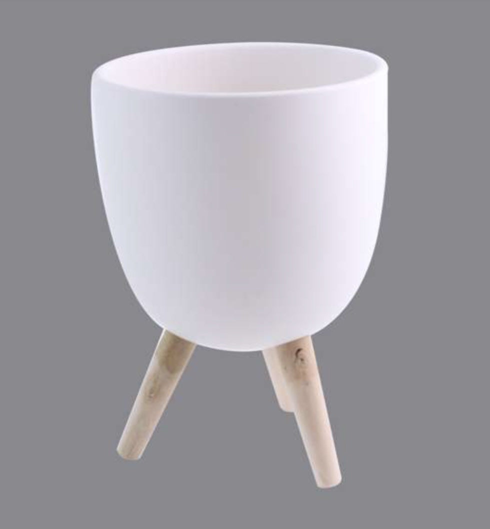 MEDIUM CERAMIC BOWL WITH LEGS