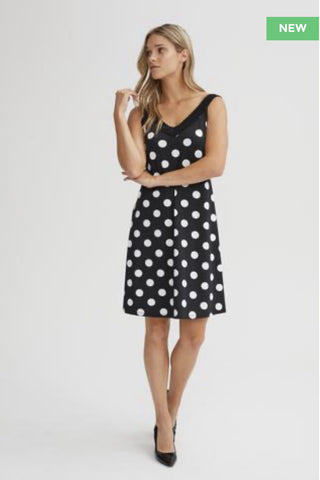 BLACK POLKADOT SUNDRESS