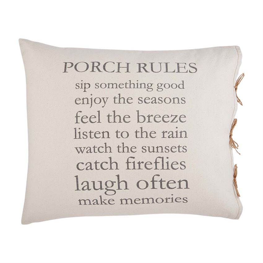 PORCH RULES PILLOW
