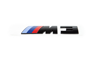 BMW OEM F80 M3 GLOSS BLACK COMPETITION PACKAGE TRUNK EMBLEM
