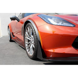 Chevrolet Corvette C7 Z06 Front Bumper Canards and Spats 2015-Up