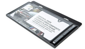 "BMW ""Powered By M"" Carbon License Plate Frame"