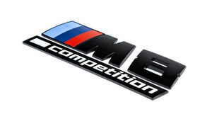 BMW F92 M8 Competition Trunk Emblem - Gloss Black