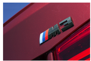 IND F80 M3 BLACK CHROME TRUNK EMBLEM