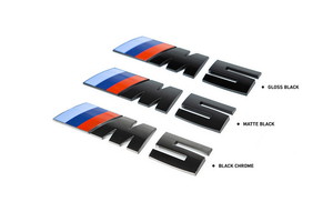 IND F90 M5 BLACK CHROME PAINTED TRUNK EMBLEM