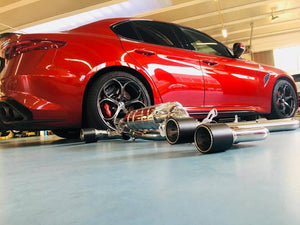 Alfa Romeo Giulia Quadrifoglio - Valved Exhaust System WITH Mid Pipes