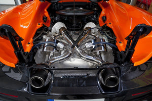 Mclaren 675LT - Valved Exhaust System & Cat Delete Pipes with Heat Blankets