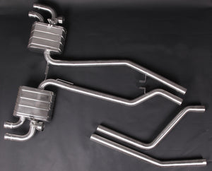 Porsche 958 Cayenne Turbo & Turbo S (up to 10/2014) - Valved Exhaust System & Mid-Pipes (incl. CES Remote)