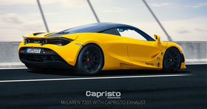 Mclaren 720S - Valved Exhaust System , Sports Cats 100 Cell with Heat Blankets