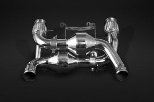 Mclaren 720S - Valved Exhaust System , Sports Cats 200 Cell with Heat Blankets
