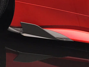 Ferrari 488 GTB & GTS Carbon Side Fins (with adapters) (Matte)