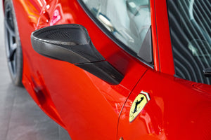 Ferrari 458 Carbon Mirror Cases (RAW)