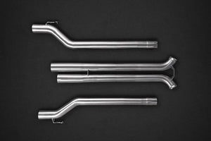 Porsche Panamera 971 Turbo & Turbo S - Valved Exhaust System & Mid-Pipes (Carbon Fiber Tips) - No Remote