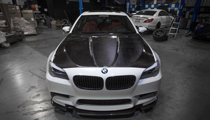 Agency Power Carbon Fiber Hood with Vented Cowl BMW F10 M5 550 535 528 11-17