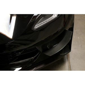 APR Performance Chevrolet Corvette C7 / C7 Z06 Carbon Fiber Front Bumper Race Canards (2014-Up)