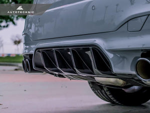 AutoTecknic BMW F90 M5 Carbon Fiber Competition Rear Diffuser