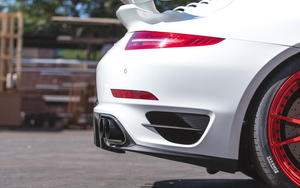Agency Power Quad GT2 Angle Style Exhaust Tips Porsche 991 Turbo