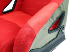 CARBON KEVLAR BUCKET RACING SEAT TYPE-FC - RED