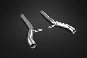 Bentley Continental Supersport W12, GTC, & GT Speed (pre-2012) Middle Silencer Cat Replacement Pipes
