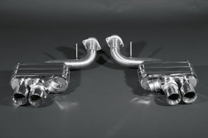 Ferrari 599 Valved Exhaust System with Cat Delete Pipes (No Remote)