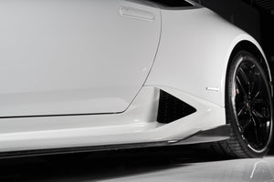 Lamborghini Huracan Carbon Fiber Side Skirts by RSC Tuning