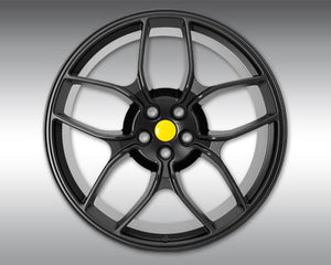 Novitec NF4 Forged Rear Wheel Black 22x12 Ferrari F12 Berlinetta 13-17