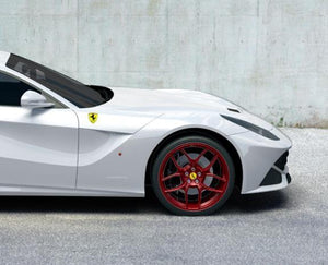 Novitec NF4 Forged Wheel Set Custom Colored With Pirelli Tires Ferrari F12 Berlinetta 13-17