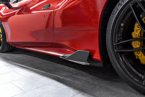 Ferrari 488 GTB & GTS Carbon Side Fins (with adapters)