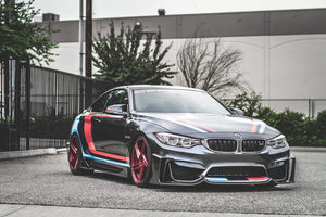 BMW M3 M4 Carbon Fiber Fang Type 1 Front Lip by Morph Auto Design Installed