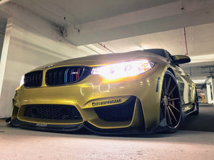 F8X M3 M4 Carbon Fiber Fang Type 2 Front Lip by Morph Auto Design