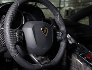 Novitec Carbon Fiber Steering wheel Surround Center Lamborghini Aventador 12-17