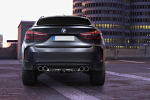 BMW X5M (F15) (2013 ) & X6M (2014 ) Valved Exhaust System, Mid-Pipes, & CES-3 Remote Kit with Carbon Fiber Tips