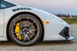 Lamborghini Huracan Vorsteiner Novara Edizione Aero Front Fenders with Vents and Splash Shield