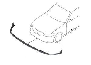 BMW 3-Series G20 Front Splitter Attachment
