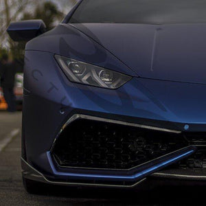Carbon Fiber Huracan Front Splitters by RSC Tuning