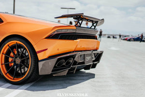 Huracan Adjustable Carbon Fiber Rear Wing by 1016 Industries