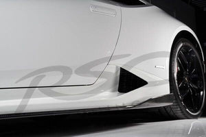 Huracan Carbon Fiber Side Skirts by RSC Tuning
