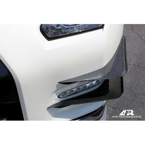 APR Performance Nissan GTR R35 Carbon Fiber Front Bumper Canards